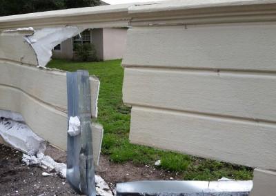 Wall Repair Before